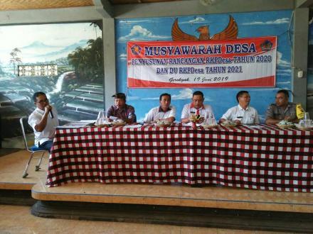 Rapat MUSYAWARAH DESA Penyusunan rancangan RKPDESA Tahun 2020 dan DU RKPDESA tahun 2021