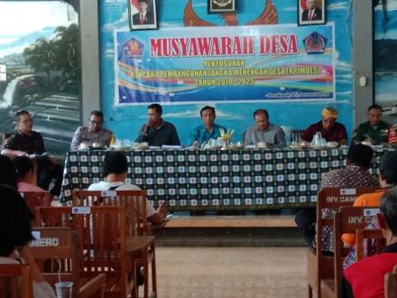 MUSYAWARAH DESA TENTANG PERENCANAAN DESA UNTUK PENYUSUNAN RPJMDESA TAHUN 2019-2020