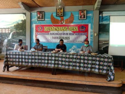 MusrenbangDesa untuk pembahasan dan menyepakati Rancangan RPJMDesa Gerokgak Tahun 2020-2025