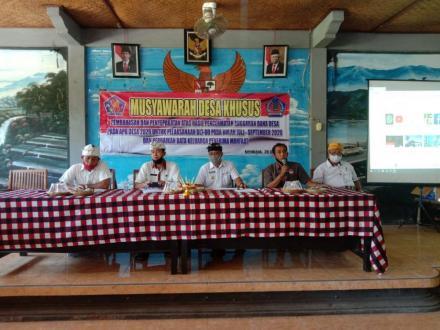 Musyawarah Desa Khusus Pembahasan dan penyepakatan atas hasil pencermatan Anggaran Dana Desa Pada AP