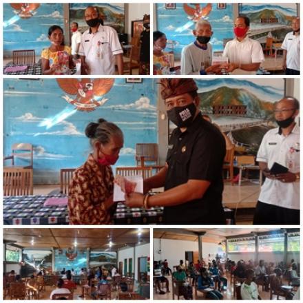 Pemerintah Desa Gerokgak Melaksanakan Realisasi BLT-DD Gelombang II untuk Tahap I yang berjumlah Rp.