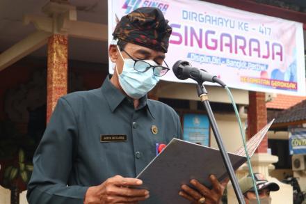 Upacara Peringatan Hari Ulang Tahun Kota Singaraja ke-417
