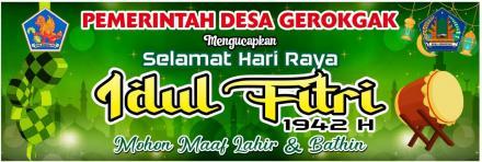 Pemerintahan Desa Gerokgak Mengucapkan Selamat Hari Raya Idul Fitri 1942 H