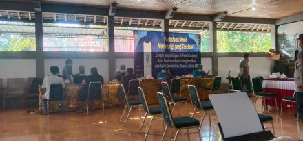Vaksinasi Tahap II untuk Vaksin dosis II Polres Buleleng di Desa Gerokgak