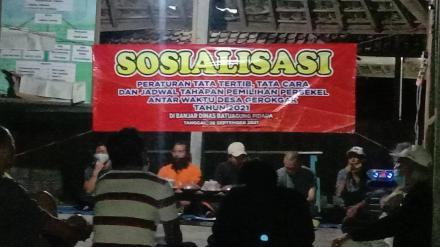 sosialisasi  Peraturan tata tertib, tata cara dan jadwal tahapan Pemilihan Perbekel antar waktu(PAW)