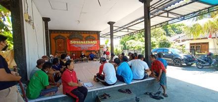 pelaksanaan sosialisasi pilkel paw di Bd. Gerokgak